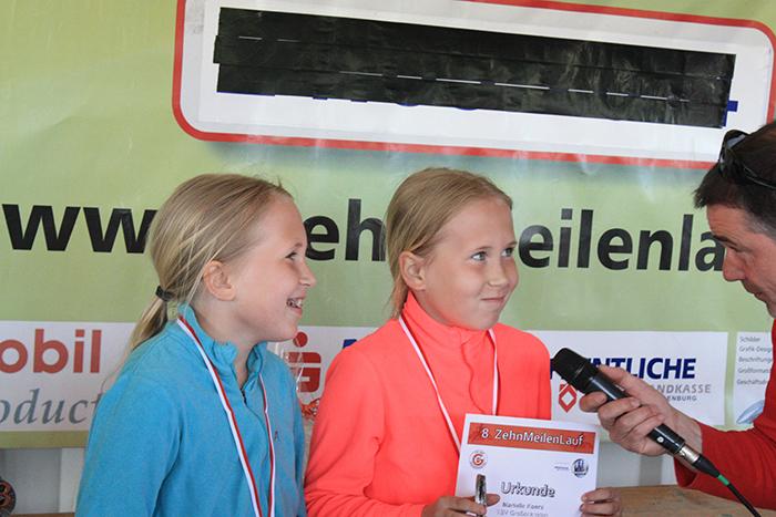 Siegerehrung Meilenlauf U12 Zwillinge