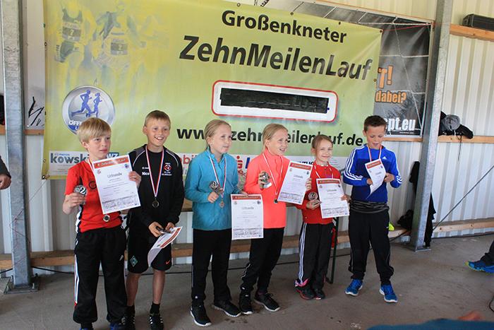 Siegerehrung Meilenlauf U12